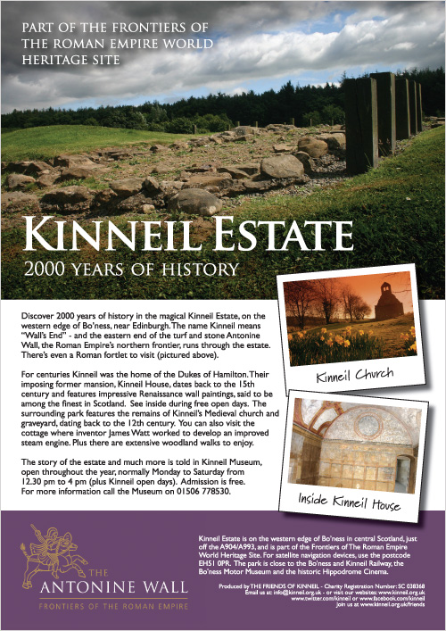 Poster for Kinneil Estate, Bo'ness.