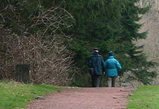 Walkers in Kinneil Woods