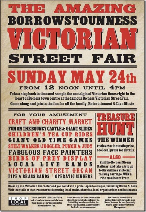 Victorian fair A4 poster 09
