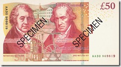 The new £50 note - copyright of The Bank of England