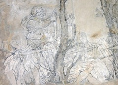 One of the wall paintings at Kinneil House
