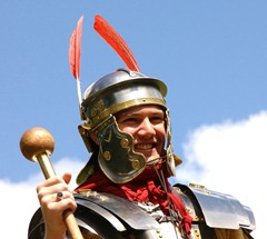 A member of the Antonine Guard - pic Falkirk Council