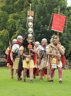 Romans marching at Kinneil