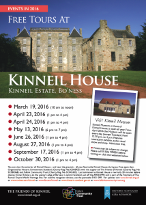 Kinneil House open day dates for 2016