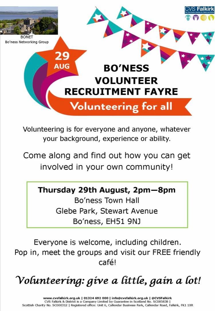 Volunteer Fair August 2019