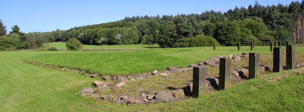 Roman Fortlet at Kinneil Estate.